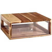 GET Enterprises Urban Renewal BB-RECT-14-UR Urban Rustic 14 3/4 inch x 12 3/4 inch x 5 inch Stackable Rectangular Bread Box