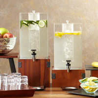 GET Enterprises WB-955-W Urban Renewal 9 1/2 inch x 5 inch Walnut Square Riser for Acrylic Beverage Dispenser
