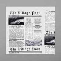 Get Enterprises 4-T3000 7 inch x 7 inch Village Post Newsprint Double-Open Bag - 2000/Case