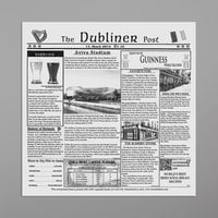 GET Enterprises 4-TD1900 White 12 inch x 12 inch Dublin Newsprint Liner - 1000/Case