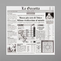 GET Enterprises 4-TI1808 White 12 inch x 12 inch Italian Newsprint Liner - 1000/Case