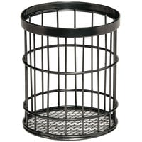 GET Enterprises WB-55-MG Urban Renewal 4 1/2 inch x 5 1/2 inch Metal Gray Round Wire Basket