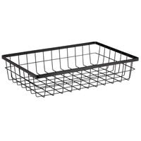 GET Enterprises WB-1814-MG Urban Renewal 17 3/4 inch x 11 1/4 inch x 4 inch Metal Gray Rectangular Wire Basket