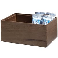GET Enterprises WB-964WD-GA Urban Renewal 9 inch x 6 inch x 4 inch Gray Ash Rectangular Stackable Wood Display Box