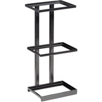GET Enterprises MTS-20M-MG Urban Renewal 9 1/4 inch x 6 1/4 inch x 20 1/2 inch Metal Gray Rectangular 3-Tier Merchandiser Stand