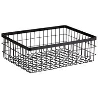 GET Enterprises WB-1294-MG Urban Renewal 12 inch x 9 inch x 4 inch Metal Gray Rectangular Wire Basket