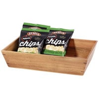 GET Enterprises WB-1814WD-UR Urban Renewal 18 1/4 inch x 12 inch x 4 inch Urban Rustic Rectangular Wood Tray