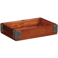 GET Enterprises WB-962WD-W Urban Renewal 9 inch x 6 inch x 2 inch Walnut Rectangular Stackable Wood Display Box