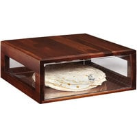 GET Enterprises Urban Renewal BB-RECT-14-W Walnut 14 3/4 inch x 12 3/4 inch x 5 inch Stackable Rectangular Bread Box