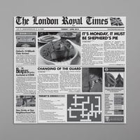 GET Enterprises 4-TN1000 White 12 inch x 12 inch London Newsprint Liner - 1000/Case