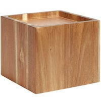 GET Enterprises WB-959-UR Urban Renewal 9 1/2 inch x 8 inch Urban Rustic Square Riser for Acrylic Beverage Dispenser