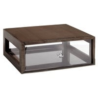 GET Enterprises Urban Renewal BB-RECT-14-GA Gray Ash 14 3/4 inch x 12 3/4 inch x 5 inch Stackable Rectangular Bread Box
