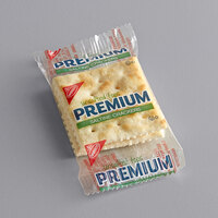 Nabisco Premium 2-Count (0.20 oz.) Unsalted Tops Saltine Crackers   - 500/Case