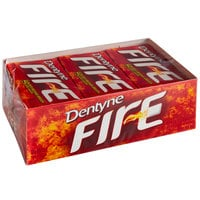 Dentyne Fire Spicy Cinnamon Sugar-Free Gum 16-Piece Pack - 162/Case