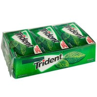 Trident Spearmint Sugar-Free Gum 14-Piece Pack - 144/Case