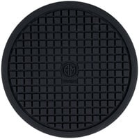 American Metalcraft TRVR10 10 inch Round Heat-Resistant Black Silicone Trivet