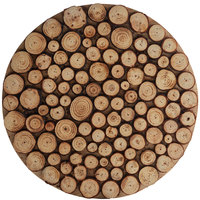 The Jay Companies 1330462-4 14 inch Round Natural Wood Charger Plate