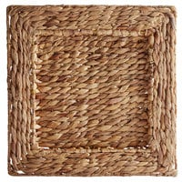 The Jay Companies 1660161-4 13 3/4 inch Square Rattan Charger Plate