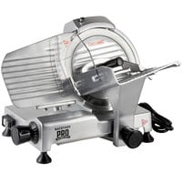 Backyard Pro SL109E Butcher Series 9 inch Manual Gravity Feed Meat Slicer - 120V