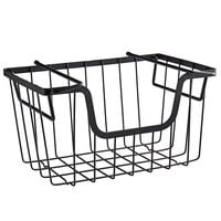 Tablecraft 240000 Grand Master Transformer Black Powder Coated Metal Stackable Hanging Basket - 15 1/2 inch x 9 1/2 inch x 8 3/4 inch