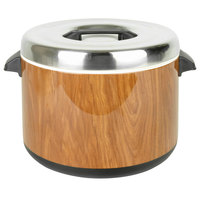Thunder Group SEJ73000 60 Cup Wood Grain Insulated Sushi Rice Pot