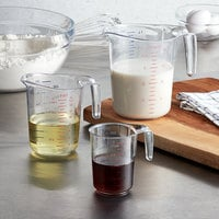 Choice 3-Piece Clear Polycarbonate Measuring Cup Set