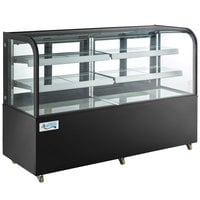 Avantco BCD-72 72 inch Curved Glass Black Dry Bakery Display Case