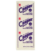 Cooper® Cheese CV Sharp White American Cheese 5 lb. Solid Block   - 6/Case