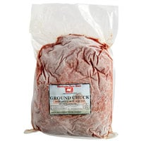 Warrington Farm Meats 5 lb. Frozen Ground Chuck Beef 85% Lean 15% Fat - 4/Case