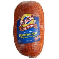 Hatfield 11 lb. Fully Cooked Extra Lean Boneless Ham - 4/Case
