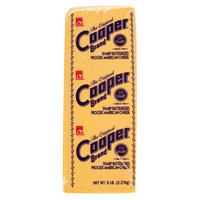 Cooper® Cheese CV 5 lb. Sharp Yellow American Cheese   - 6/Case