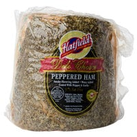 Hatfield 7 lb. Peppered Ham - 2/Case