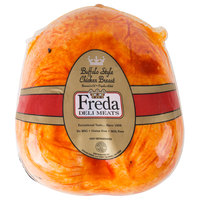 Freda Deli Meats 6 lb. Fully Cooked Buffalo Style Chicken Breast - 2/Case