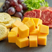 Dinner Bell Creamery 5 lb. Yellow Sharp Cheddar Cheese - 2/Case