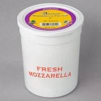 4 oz. Fresh Mozzarella Ovoline Balls 3 lb. Tub - 2/Case