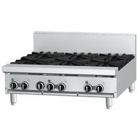 Garland GF36-2G24T Liquid Propane 2 Burner Modular Top 36 inch Range with Flame Failure Protection and 24 inch Griddle - 88,000 BTU