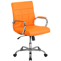 Flash Furniture GO-2240-ORG-GG Mid-Back Orange Quilted Vinyl Office Chair