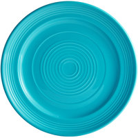 Tuxton CIA-104 Concentrix 10 1/2 inch Island Blue China Plate - 12/Case