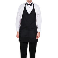 Choice Black Tuxedo Apron with Pockets 32 inchL x 29 inchW