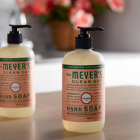 Mrs. Meyer's Clean Day 651332 12.5 oz. Geranium Scented Hand Soap with Pump - 6/Case