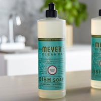 Mrs. Meyer's Clean Day 651202 16 oz. Basil Scented Dish Soap - 6/Case