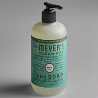 Mrs. Meyer's Clean Day 651344 12.5 oz. Basil Scented Hand Soap with Pump - 6/Case