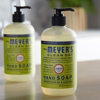 Mrs. Meyer's Clean Day 651321 12.5 oz. Lemon Verbena Scented Hand Soap with Pump - 6/Case