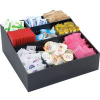 Cal-Mil 1260 Adjustable Black Coffee Condiment Organizer - 12 inch x 12 inch x 5 inch