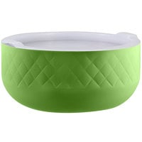 Bon Chef Diamond Collection Cold Wave 10.10 Qt. Lime Green Triple Wall Bowl with Cover