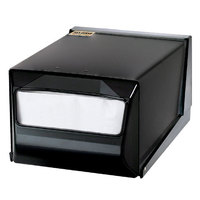 San Jamar H3001TBKBK Fullfold Countertop Napkin Dispenser - Black Face with Black Body