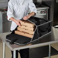 Vollrath VPB318 3-Series Insulated Pizza Delivery Bag, 19 inch x 19 inch x 9 inch - Holds (3) 18 inch Pizza Boxes