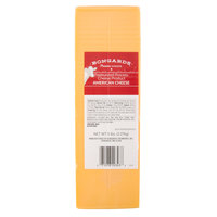 Bongards 5 lb. Solid Block Yellow American Cheese - 6/Case