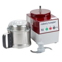 Robot Coupe R2N Ultra Combination Continuous Feed Food Processor with 3 Qt. Stainless Steel Bowl - 1 hp