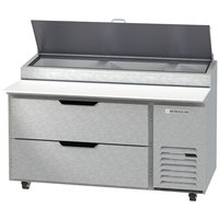 Beverage-Air DPD60HC-2 Hydrocarbon Series 60 inch 2 Drawer Pizza Prep Table